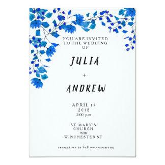 Invitation floral de mariage d'aquarelle de