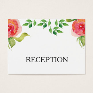 invitation floral de réception d'aquarelle rose de