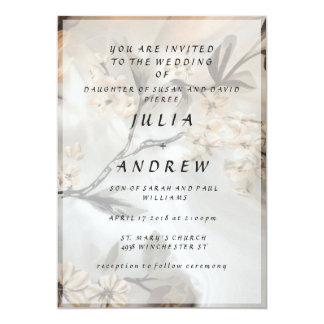 Invitation floral élégant de mariage