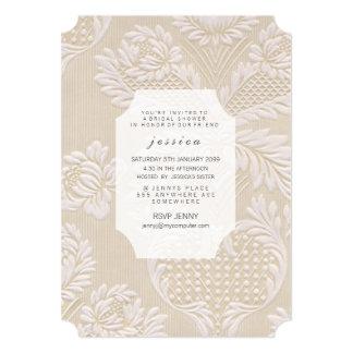 Invitation floral français de motif de papier