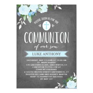 Invitation florale de communion du tableau | de