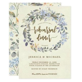 invitation florale de dîner de répétition de