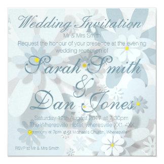Invitation florale de réception de mariage