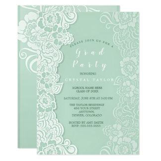 Invitation florale d'obtention du diplôme de