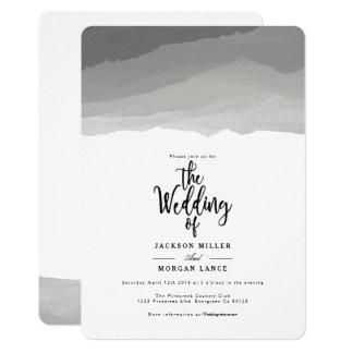 Invitation gris de mariage d'aquarelle des