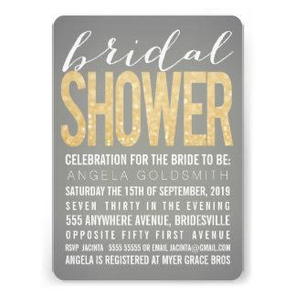 Invitation grise de partie de douche de