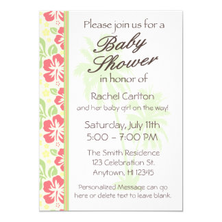 Invitation hawaïenne de baby shower de Luau