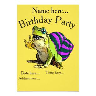 Invitation heureuse d'anniversaire de grenouille