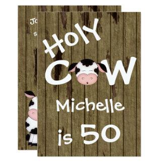 Invitation humoristique d'anniversaire de vache