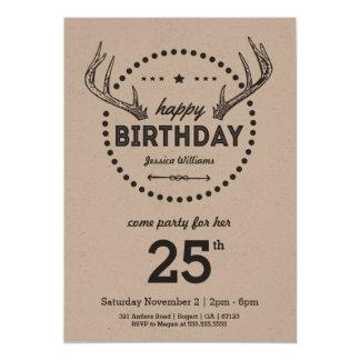Invitation inspirée d'anniversaire d'andouillers