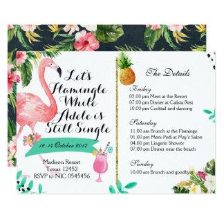 Invitation itinéraire de week-end de Flamingle