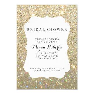 Invitation - jour nuptiale de douche ouvrier - or