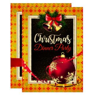 Invitation léger élégant de dîner de Noël de motif