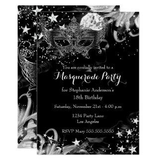 Invitation magique de mascarade de nuit