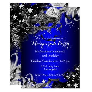 Invitation magique de partie de mascarade de nuit