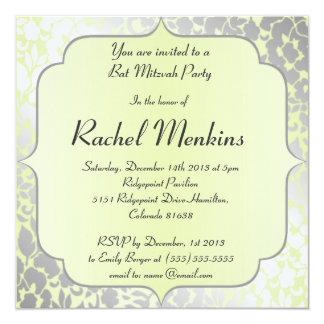 Invitation métallique élégante de bat mitzvah de carton d'invitation  13,33 cm