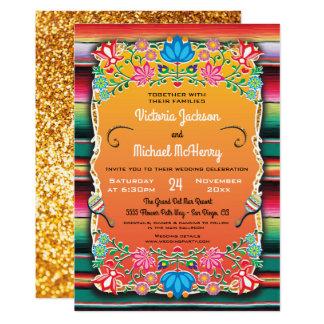 Invitation mexicaine de couverture de mariage et