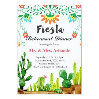 Invitation mexicaine de dîner de répétition de