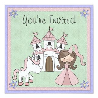 Invitation mignon d'anniversaire de princesse et