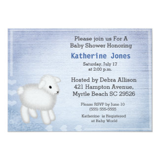 Invitation mignonne de baby shower d'agneau de
