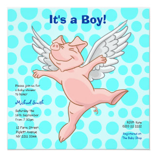 Invitation mignonne de partie de baby shower de
