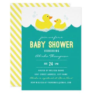 Invitation mignonne en caoutchouc de baby shower