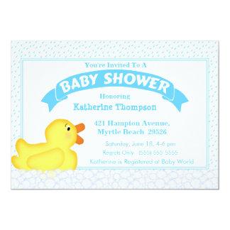 Invitation mignonne en caoutchouc jaune de baby