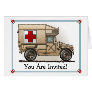 Invitation militaire de partie d'ambulance de