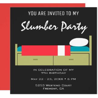 Invitation moderne d'anniversaire de soirée