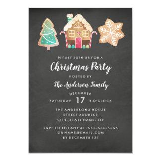 Invitation moderne de fête de Noël de biscuits