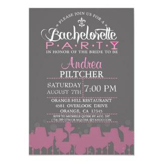 Invitation moderne de partie de Bachelorette