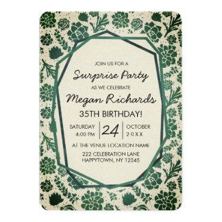 Invitation naturelle de fête d'anniversaire de
