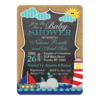 Invitation nautique de baby shower