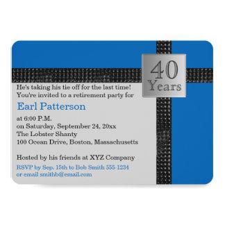 Invitation noire, bleue, et grise de retraite