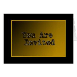 Invitation noire d'or