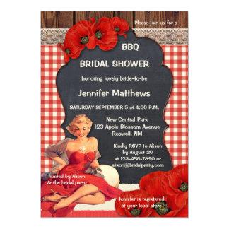 Invitation nuptiale de douche de BBQ de cru