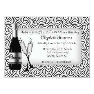 Invitation nuptiale de douche de Champagne