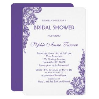 Invitation nuptiale de douche de dentelle