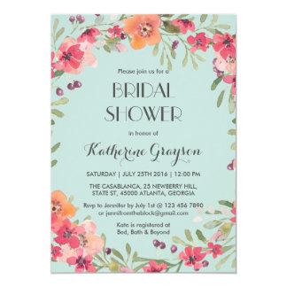 Invitation nuptiale de douche de fleur vintage