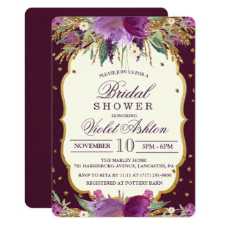 Invitation nuptiale de douche de parties