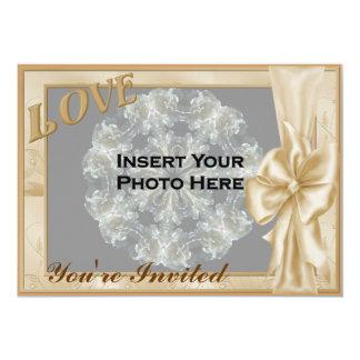 Invitation nuptiale de douche de photo élégante de