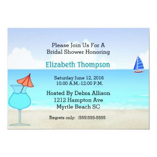 Invitation nuptiale de douche de plage