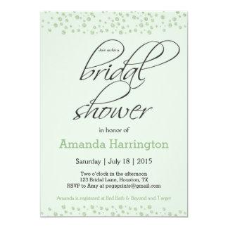 Invitation nuptiale de douche de scintillement