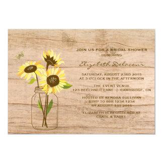 Invitation nuptiale de douche de tournesols