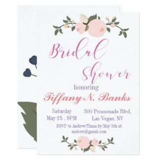 Invitation nuptiale de douche de typographie