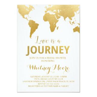 Invitation nuptiale de douche de voyage