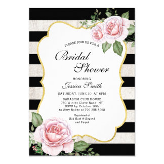invitation nuptiale florale chic minable de douche