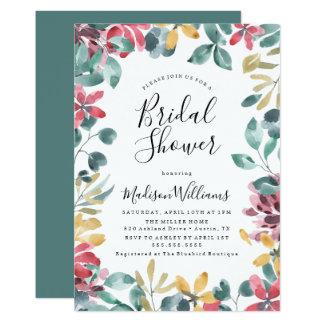 Invitation nuptiale florale de douche de fleurs