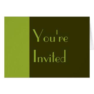 Invitation olive de Parti Vert