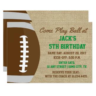 Invitation orienté d'anniversaire du football